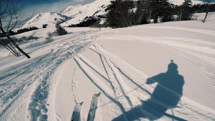 Skiing fresh powder in the Portes du Soleil