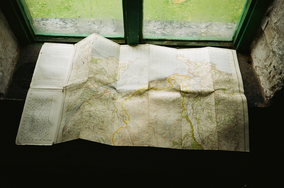 Map of Snowdonia in Dulyn Bothy